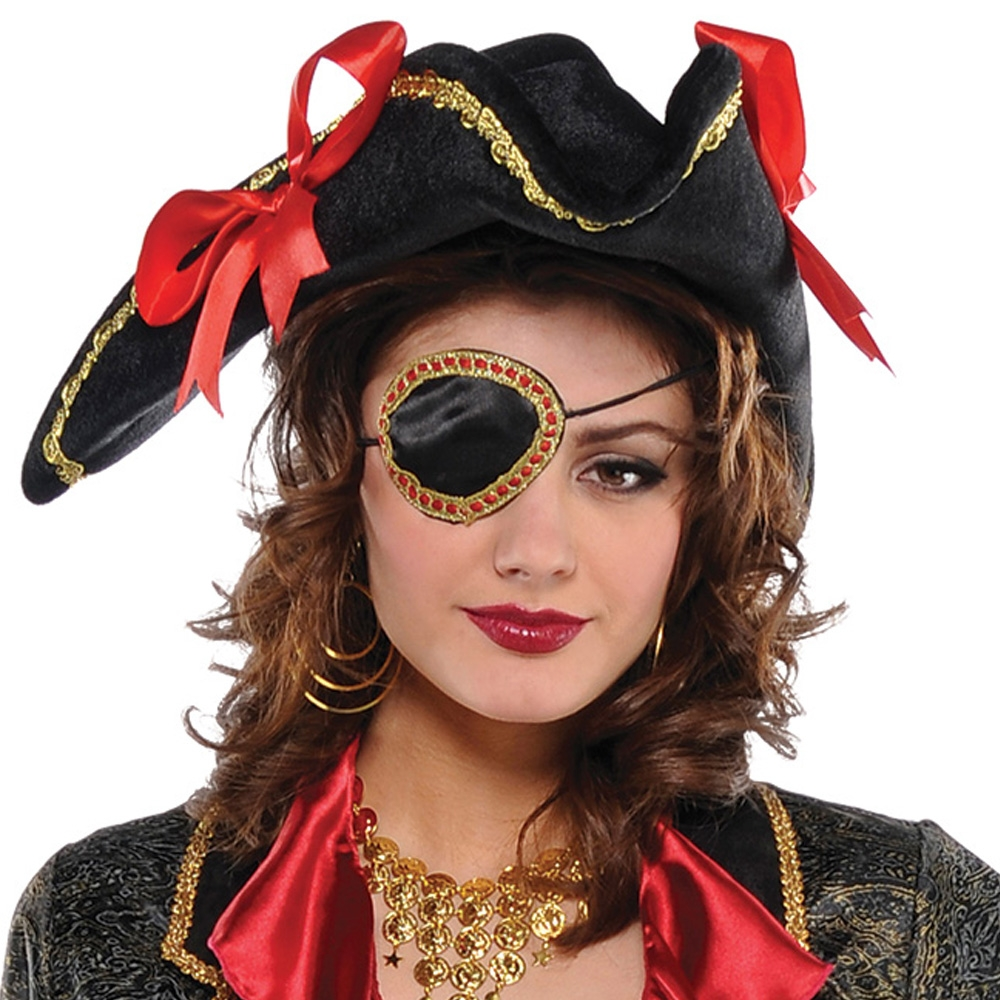 Ladies Pirate Eyepatch Fancy Dress And Party