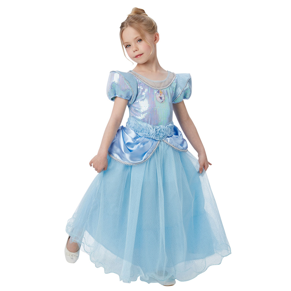 Premium Kids Cinderella Costume - Fancy Dress and Party