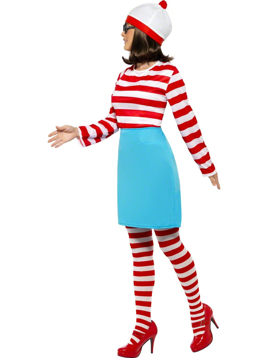 Where\'s Wally Wenda Costume - Fancy Dress and Party