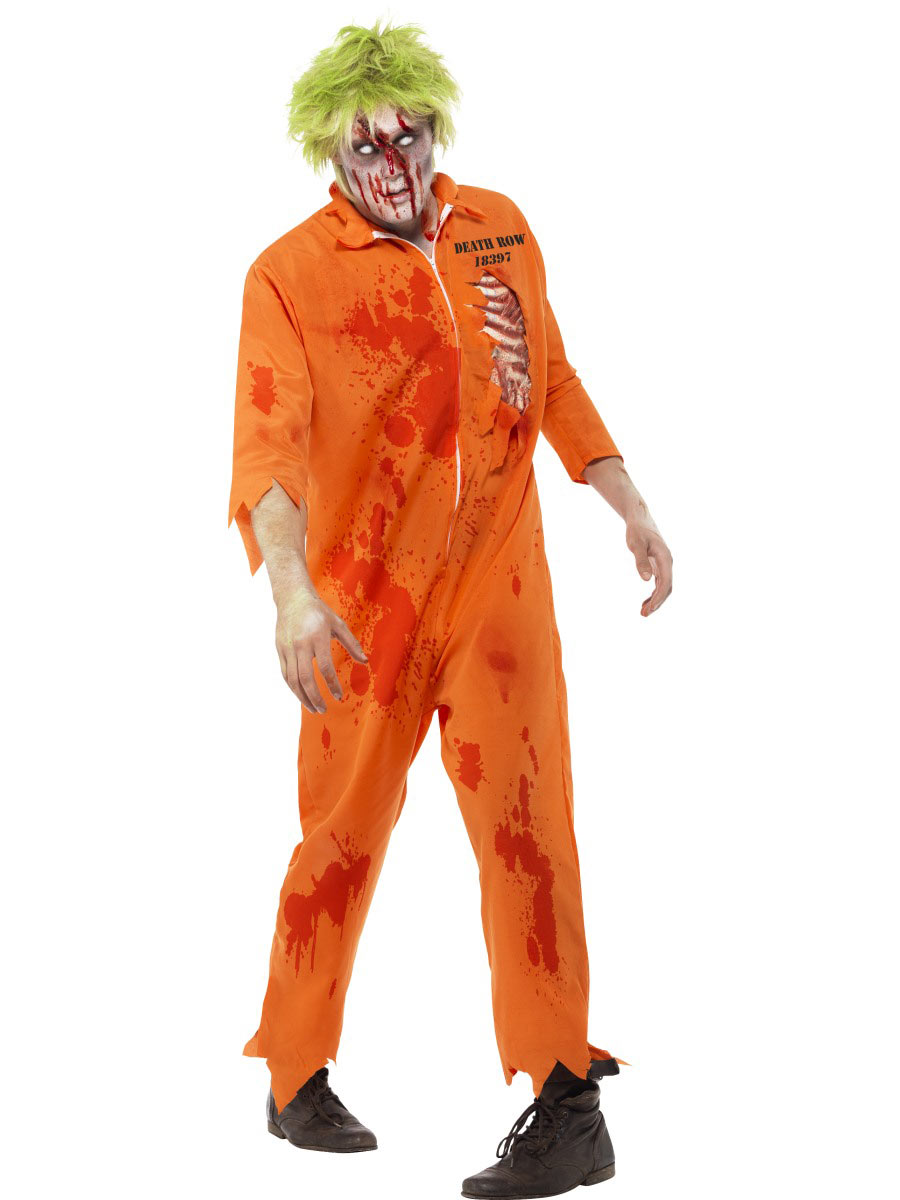 zombie inmate costume - fancy dress and party