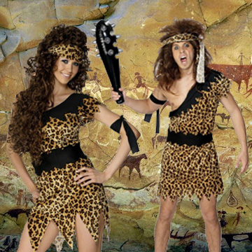 Caveman and Cavewoman Fancy Dress Costumes
