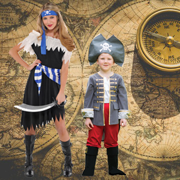 Kids Pirate Fancy Dress Costumes
