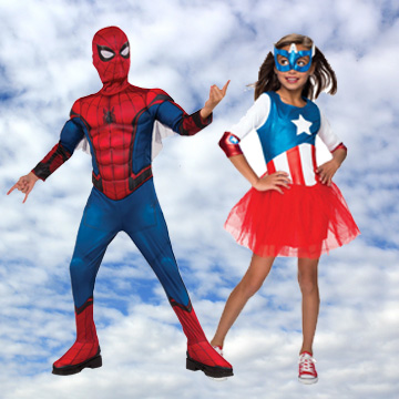 Kids Superhero Fancy Dress Costumes