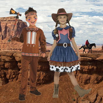 Kids Wild West Fancy Dress Costumes